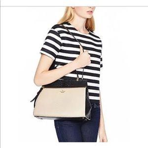 Kate Spade black and lilac shoulder bag